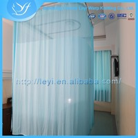 LY-5 100% Polyester Light Blue Color Hospital Blackout Curtain Fabric