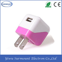 Travel Single USB Port USB Wall Charger Portable EU/US USB Wall Travel Charger for Mobile Phone