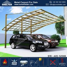 Large Aluminum Car Parking Canopy/ Commercial Cantilever Entrance Canopies with Polycarbonate Roof
