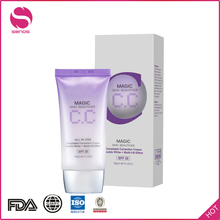 Senos Daily Skin Light Whitening Flawless Best Face CC Cream Lotion With CE FDA GMP