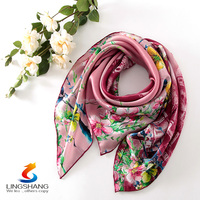 Fashion scarves excellent silk scarf bound wholesale 100%silk square bandana/scarf
