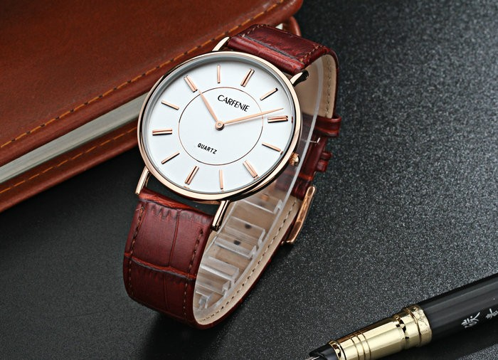 Fashion slim design japan movement quartz watches made in china