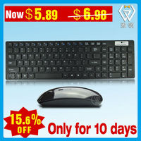 wireless deluxe keyboard mouse combo 2.4 with communal USB receiver
