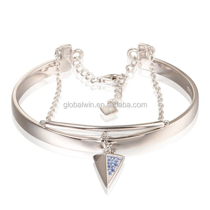 Specific gifts design sterling 925 silver bangle bracelet