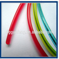 yellow/ blue/ vinyl coated steel wire rope