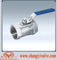 1PC SS low pressure ball valve with female thread (1000WOG, female ball valve,1PC thread ball valve)