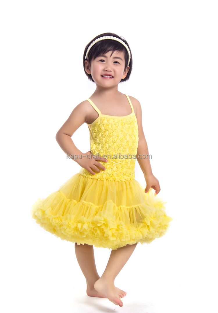 Newborn baby dresses girls rosettes pettiskirt party dress for girls