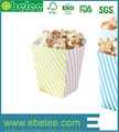 customized square paper popcorn boxes recycled brown kraft paper popcorn box design