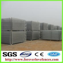 Galvanized metal frame material portable temporary fence, fencing panels