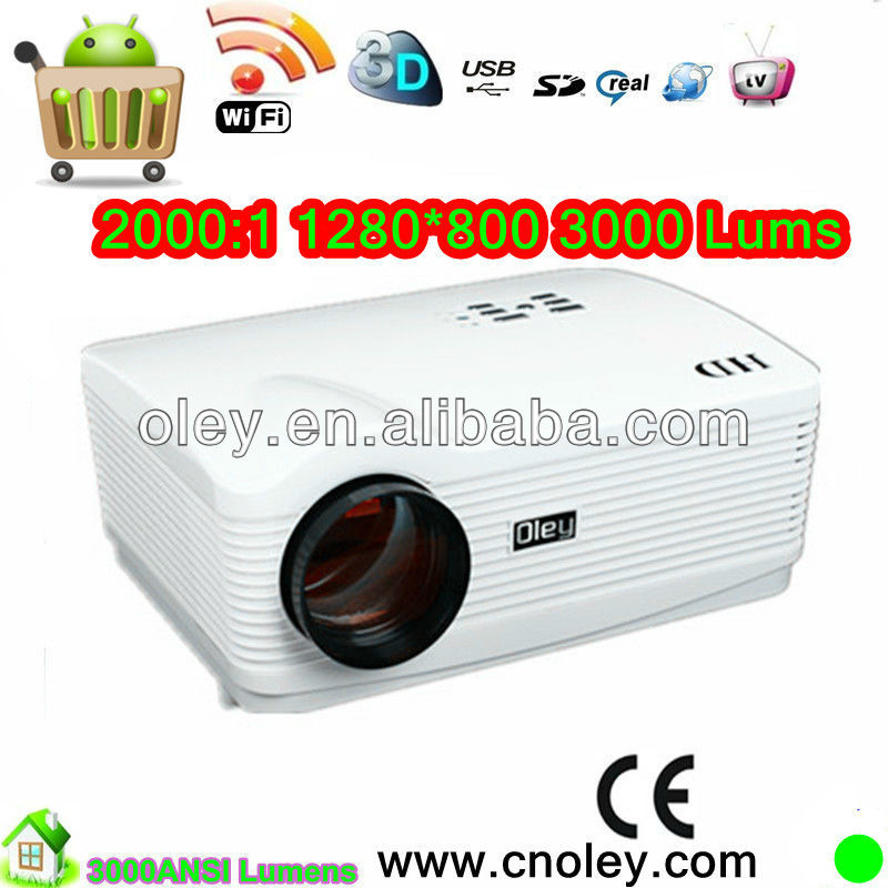 HDTV Home theater lcd video projector;multi-media teaching; KTV video entertainment, nightclubs, Video Game
