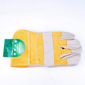 Guantes Trabajo New Garden Gloves 2015 Hot Abrasion Safety Working Protective Leather Welding Gloves for Building