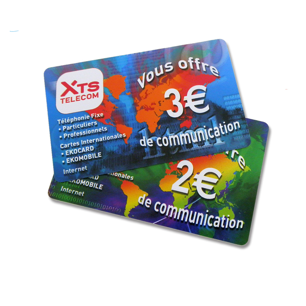 Telecom Scratch Card Printing Prepaid Phone Pin Number Scratch Card