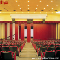 Varifold acoustic wall movable sliding folding partition for studio room