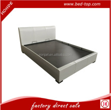 Double Lift Up PU Leather Wooden Bed Box Hydraulic Storage Bed