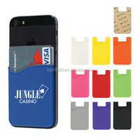 Hot Sale 3M Adhesive Sticker Silicone Smart Wallet Mobile Phone Card Holder Pouch Pocket