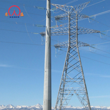 Transmission and distribution electrical power utility galvanized steel pole