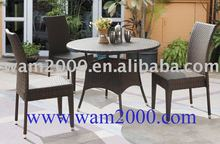 garden aluminum PE rattan dining table and chairs