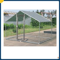 Chicken Run 7x10 ft Walk in Coop for Poultry Dog Rabbit Hen Cage Pen Metal Door