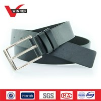 Men PU Faux Leather Plain Suits Belts