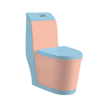 Attractive Ceramic Piece Pink Colored Toilets
