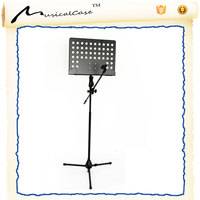 Heavy duty music sheet stand with mic stand