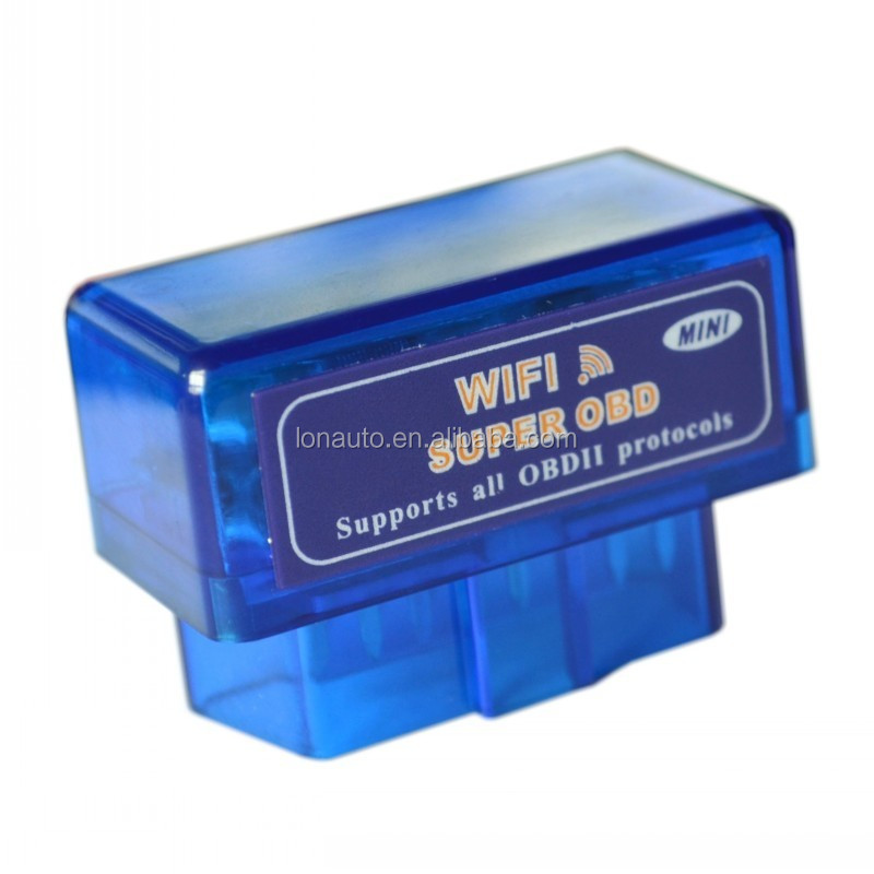 Blue NEW Mini Elm327 wifi Obdii OBD2 CAN car diagnostic scanner program