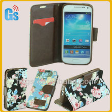Wholesale Flower Jean Leather Case For Samsung Galaxy S 4 S4 Mini 9190