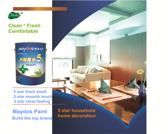 Water resistant environmental protective wall latex emulsion paint