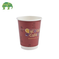 design 2-3 colors double wall paper cup 8oz 12oz for hot coffee