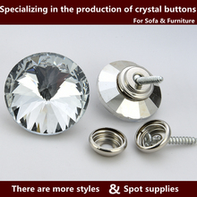 New coming trendy style crystal buttons metal
