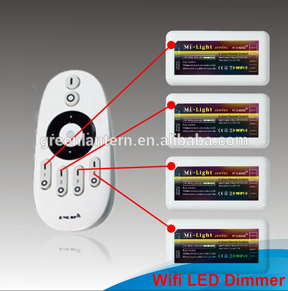 LED CCT Controller 2.4G RF Mi Light LED Dimmer Adjustment Brightness 4 Zone RF Remote Control Wireless For CW WW LED Strip