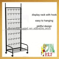 supermarket metal necklace display stand with hooks