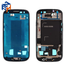 Original Mobile Phone Housing For Samsung Galaxy S3 i9308 Middle Frame Replacement Black