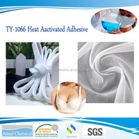 TY-1066 Oil-based One-component PU Heat Activated Adhesive for bra steel trap, shaping yarn, PU leather, PVC leather, etc.