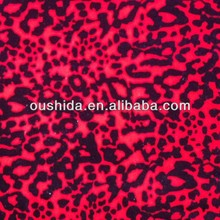 Polyester animal pictures print velboa textile fabric with leopard print