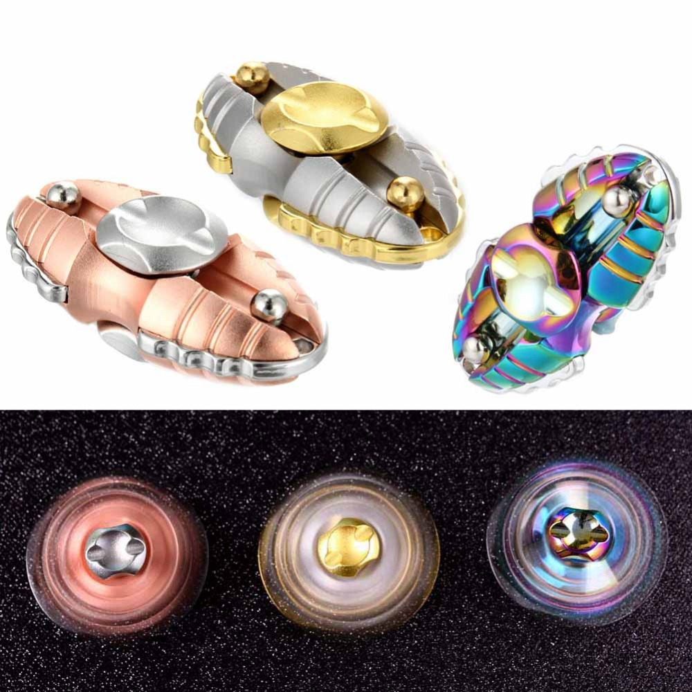 New EDC Finger Hand Spinner Alloy Egyptian Worms Fidget Toy for Autism ADHD Relief Stress Toys
