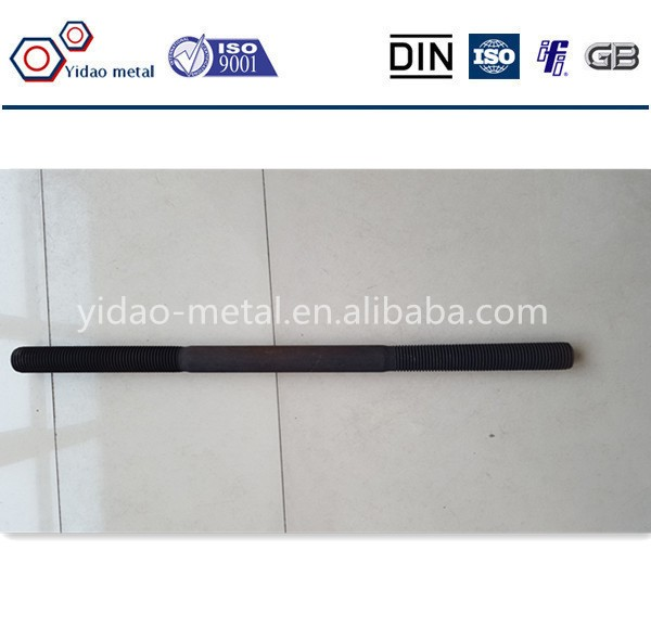 high tensile I type foundation bolt gr8.8 black M32
