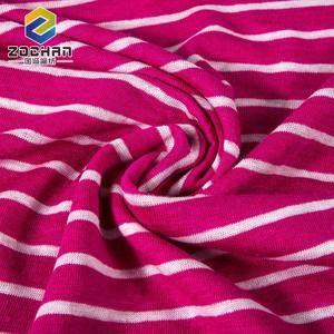 custom wholesale color jersey knit linen stripe knitting fabric for women Garment