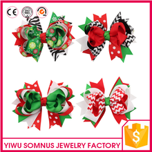 Stock 12pcs/bag Big red grosgrain ribbon kids christmas bow <strong>hair</strong> clips <strong>hair</strong> <strong>accessories</strong>