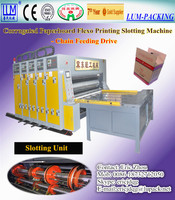 Corrugated box high speed flexo printing machine/fully automatic corrugated box machine CE
