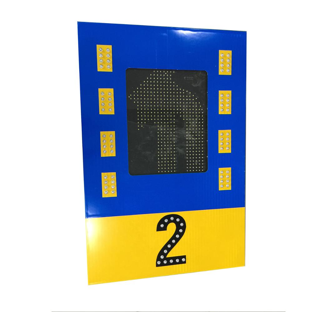 Top selling no parkig sign flashing led lane aluminum traffic signal