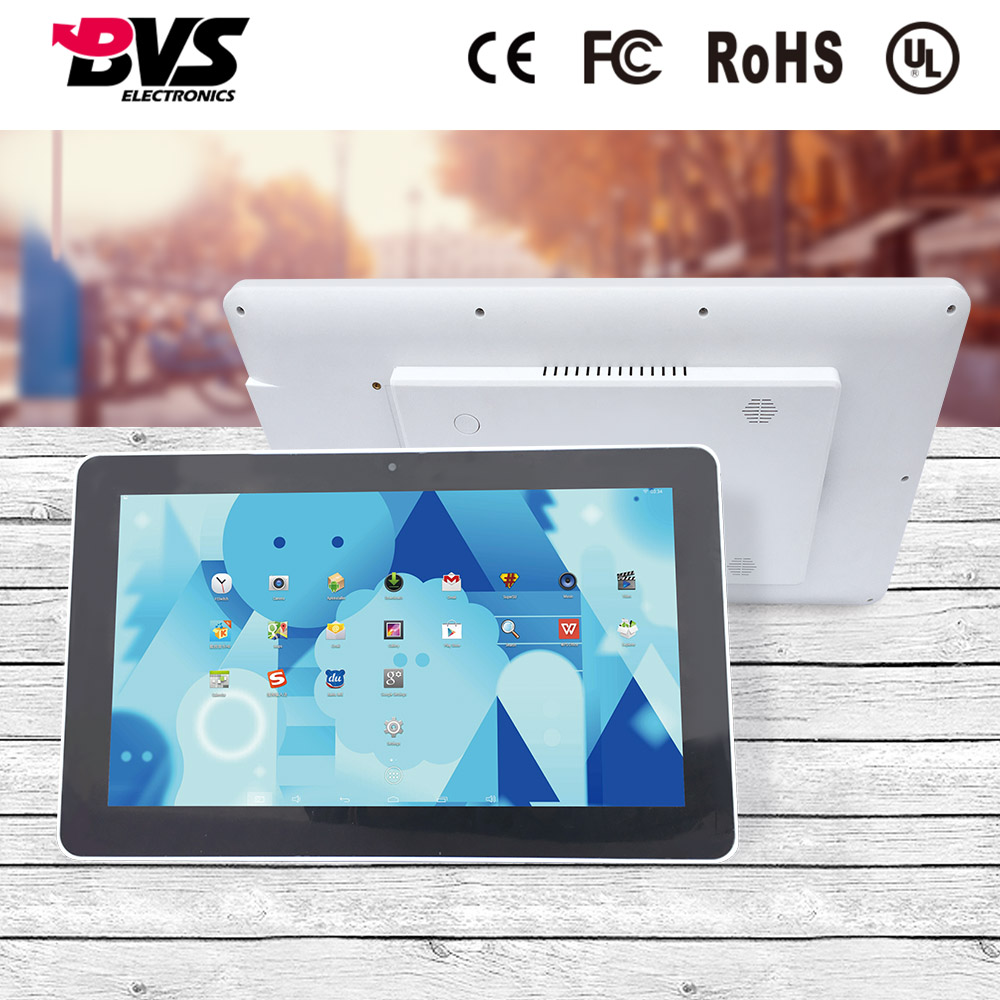 Black 15.6 inch all-in-one tablet pc POE panel pc with android 6.0 operating system