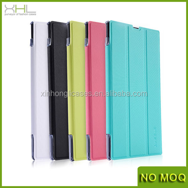 New flip stand leather case for Sony XL39h, pu leathe cover for sony Xperia z ultra