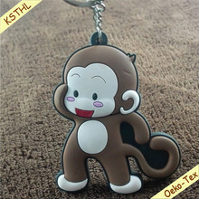 Factory Wholesale 2D Custom Shaped Soft PVC Keychain for Promotional Gifts