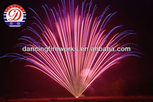 fireworks professional diplay cakes 665 Shots Fan Shape Pink to Blue