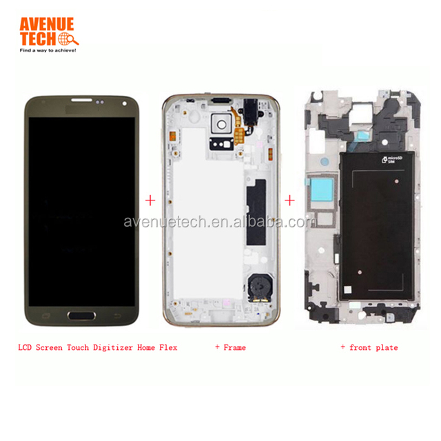 100% Original New For Samsung Galaxy S5 LCD Display i9600 G900 G900F LCD With Touch Screen Digitizer Assembly