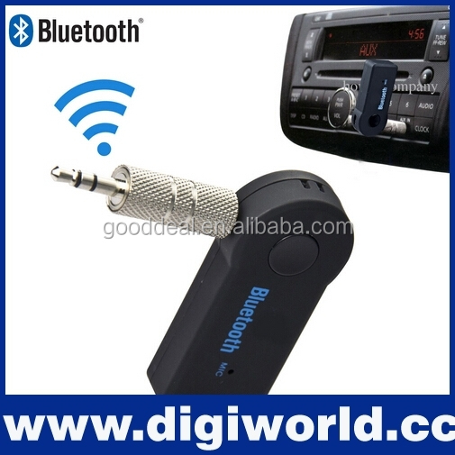 Bluetooth V3.0 Wireless Stereo Audio Music Receiver with Mic 3.5mm Hands-free for Car AUX Home Audio