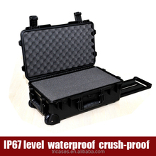 Shanghai Tricases M2500 2016 new technology wheeled hard plastic waterproof rod case