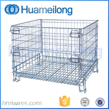 Folded Galvanized Metal Warehouse industrial metal storage bins
