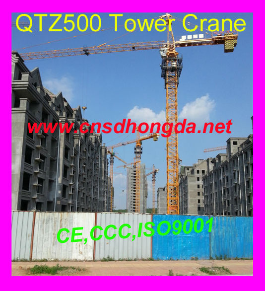 High Quality Electric Tower Crane QTZ500 on Sale